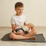 фотосессия новорожденной девочки со старшим братом, ньюборн, фото новрожденной, ньюборн москва, ньюборн Люберцы